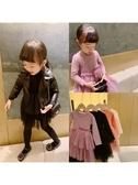 女童連身裙秋冬純棉網紗兒童拼接裙超洋氣長袖寶寶衛衣裙 嬡孕哺