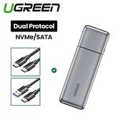 UGREEN 綠聯 USB-C M.2硬碟外接盒 (支援NVMe/SATA雙模式專業版)
