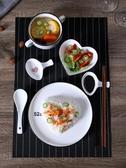 兒童餐具 創意北歐西餐盤子一人食兒童碗碟餐具套裝家用菜盤早餐碗盤組合裝【免運】