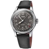ORIS 豪利時 Big Crown指針式日期機械錶-灰x黑灰x40mm 0175477414064-0752065