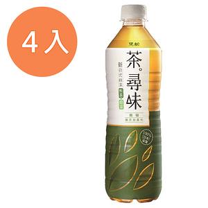 黑松茶尋味新日式無糖綠茶590ml(4入)/組【康鄰超市】