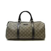 GUCCI 古馳 棕色經典LOGO花紋包士頓包手提斜背包 Joy Boston Bag 203696【BRAND OFF】