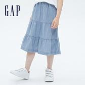 Gap女童 甜美純棉寬鬆長裙 692313-牛仔藍