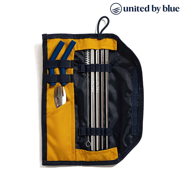 United by Blue 防潑水餐具收納包組 Utensil Kit 814-112 (素色款) / 休閒 旅遊 居家 撥水 環保吸管 餐具