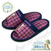 【クロワッサン科羅沙】Peter Rabbit  雙色井格素邊布拖鞋 (粉色26CM)