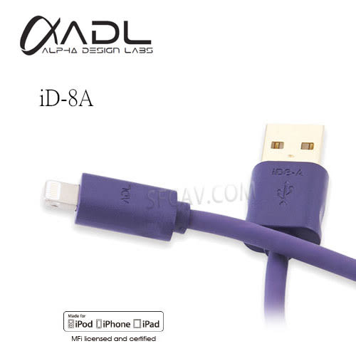 【竹北勝豐群音響】FURUTECH ADL iD-8A Lightning Connerctor to USB A for iPHONE5  0.1m