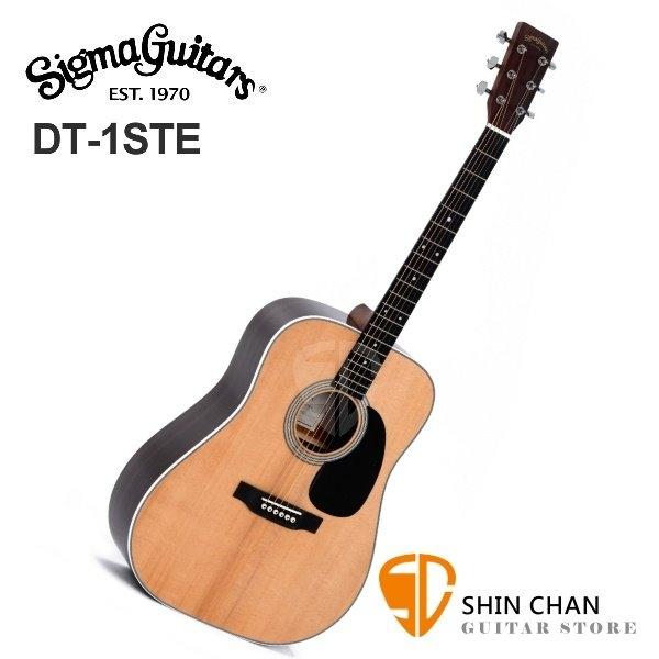 Sigma DT-1STE 可插電木吉他/41吋切角單板民謠吉他 DT1STE /雲杉面單板/經典D桶身/切角) 附贈吉他袋