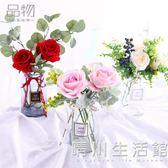 ins假花仿真花藝玫瑰套裝花瓶絹花北歐風室內客廳裝飾品餐桌擺件 晴川生活館