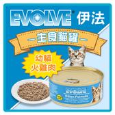 【力奇】Evolve 伊法 主食貓罐-幼貓-火雞肉口味5.5oz(156g) 超取限24罐 (C002K01)