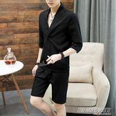 男士套裝個性潮男衣服男一套韓版潮流休閒 時尚教主
