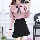 短裙套裝2021秋冬新款小香風甜美針織毛衣裙子兩件套短裙小個子網紅套裝女 JUST M