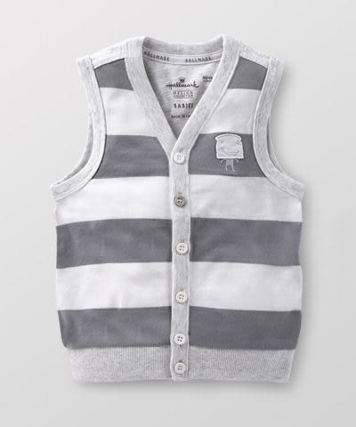 Hallmark Babies 男童小紳士外套條紋背心 HD1-R02-03-KB-NG