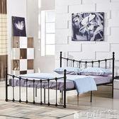 雙人床架 簡約公寓出租房鐵藝雙人鐵床架1.5結實穩固單人床1.2m床架1.8米igo 寶貝計畫