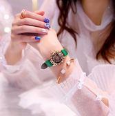 女士手錶手錶女士學生韓版簡約時尚潮流防水休閑大氣石英女錶抖音網紅同款 晴天時尚館