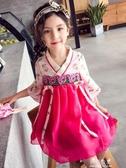 女童洋裝漢服中國風儒裙旗袍兒童公主裙超洋氣韓 伊莎gz
