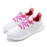 adidas 慢跑鞋 Puremotion 白 桃紅 花布 透氣 小白鞋 女鞋【ACS】 FZ0364
