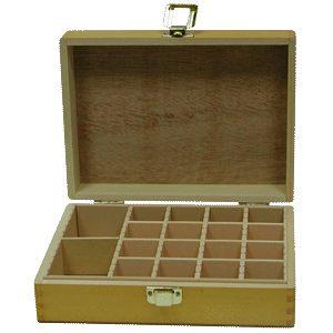 【STAT】NO.4 (大) 165×225mm 木質印章盒/印鑑箱/印章盒/印章箱/印章保管箱