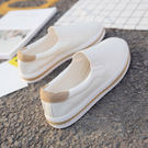 帆布鞋 韓版女小白鞋 球鞋 厚底松糕鞋休閑鞋平底鞋 DK STORE