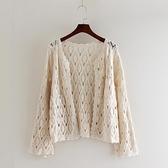 針織鏤空開衫女2021春夏外搭薄款上衣蕾絲衫防曬衫空調衫百搭披肩 快意購物網