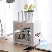 電線收納盒 插座路由器盒子桌面電源線整理排插集線盒