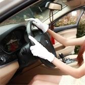 通用吸汗男士專用駕駛手套透氣汽車通勤薄黑色夏季機車司機防滑開