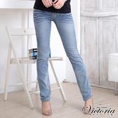 Victoria 直筒褲-女-淺藍-VW209473