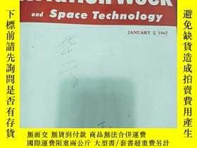 二手書博民逛書店AVIATION罕見WEEK AND SPACE TECHNOLOGY VOL.86 NO.1-12 1967 航