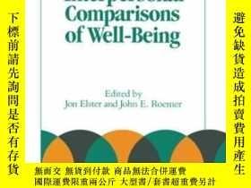 二手書博民逛書店Interpersonal罕見Comparisons Of Well-being (studies In Rati