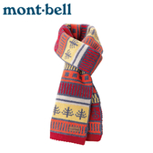 【Mont-Bell 日本 knit highland圍巾《紅》】1108896/針織羊毛圍巾/粗紗編織巾/登山/滑雪
