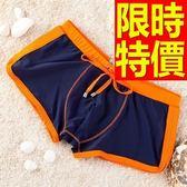 四角泳褲-溫泉嚴選熱銷經典男平口褲56d68【時尚巴黎】