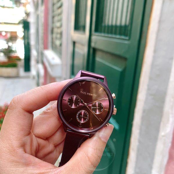 PAUL HEWITT德國工藝時尚日曆編織腕錶PH-E-DM-DM-53S公司貨