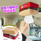 車用吸頂面紙盒 強力磁鐵紙巾盒 不擋視線 衛生紙盒 汽車百貨 簡易更換 磁鐵 汽車 冰箱【VENCEDOR】