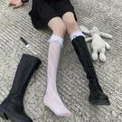 蕾絲襪 長筒花邊襪子女小腿襪