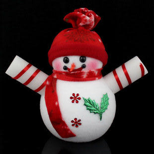 聖誕裝飾  紅帽雪人擺件