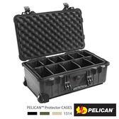 美國 PELICAN 1514 輪座拉桿氣密箱-含隔層(黑) │1510氣密箱 (公司貨)