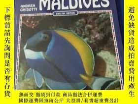 二手書博民逛書店英文版罕見Fish of the Maldives, 銅版彩圖