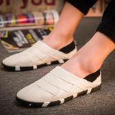 帆布鞋男鞋子女鞋子百搭休閒男鞋子低筒一腳蹬套腳懶人老北京布鞋【下殺85折起】
