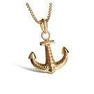 【5折超值價】 最新款經典復古船錨個性男款鈦鋼項鍊