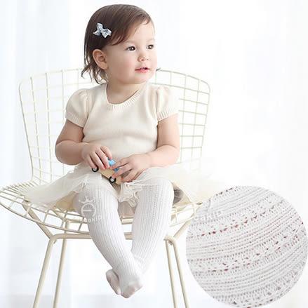 針織簍空薄褲襪 有防滑底 S(6M~2Y). M(3Y~4Y) 橘魔法Baby magic 兒童褲襪 童裝