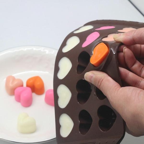 降價兩天 焙心形巧克力模具 冰塊模具愛心果凍布丁烘焙磨具
