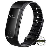 大顯智能手環 心率血壓監測計步防水運動手表 安卓蘋果小米2華為3 ~黑色地帶
