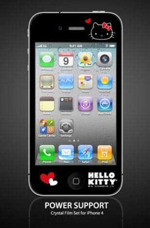 【漢博商城】POWER SUPPORT iPhone 4/4S 專用 Hello Kitty 亮面保護膜(KT1)