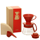 HARIO V60紅色01濾杯咖啡壺組 1-3杯 VDS-3012R