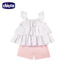 chicco-花語-多層次荷葉無袖套裝