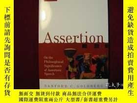 二手書博民逛書店Assertion:罕見On the Philosophical