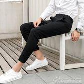 小西褲男九分休閒9分褲學生黑色西裝褲男修身小腳顯瘦西服褲 居樂坊生活館