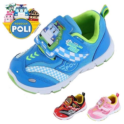 男女童 POLI 波力羅伊安寶 01252 台灣製造閃燈透氣網布魔鬼氈 電燈鞋 運動鞋 休閒鞋 59鞋廊