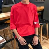 夏季原宿風bf五分袖寬鬆正韓正韓短袖男生衣服學生7七分袖t恤【寶貝開學季】