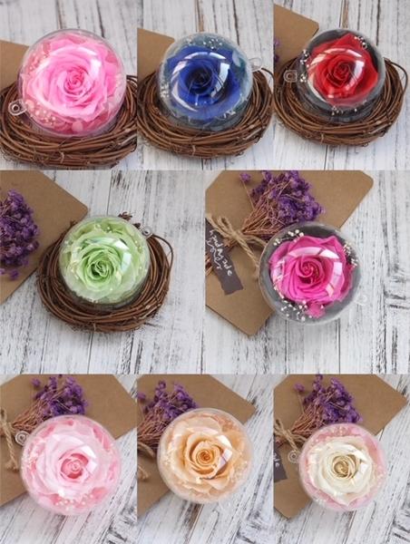 永生花玫瑰7公分花球(可任意搭配鑰匙圈或製作車用掛飾)