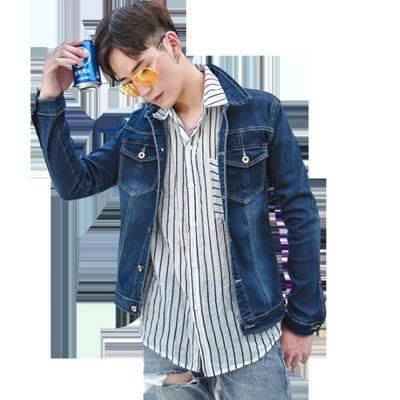 牛仔外套-韓版時尚精選休閒刷色男丹寧夾克73rj30[巴黎精品]